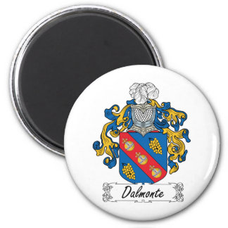 Escudo de la familia de Dalmonte Imán Redondo 5 Cm