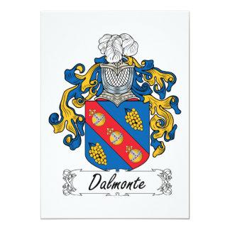 """Escudo de la familia de Dalmonte Invitación 5"""" X 7"""""""