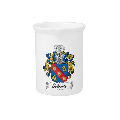 Escudo de la familia de Dalmonte Jarras Para Bebida