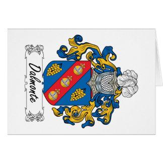 Escudo de la familia de Dalmonte Tarjeta De Felicitación