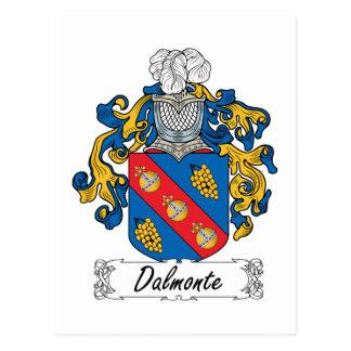 Escudo de la familia de Dalmonte Postal