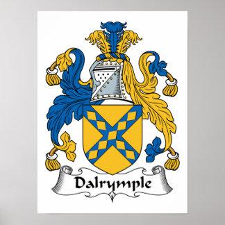 Escudo de la familia de Dalrymple Póster