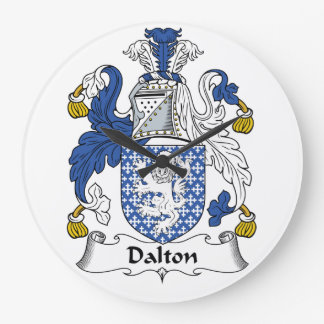 Escudo de la familia de Dalton Reloj Redondo Grande