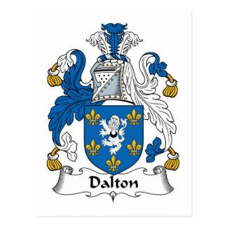 Escudo de la familia de Dalton Tarjeta Postal