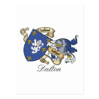 Escudo de la familia de Dalton Postal