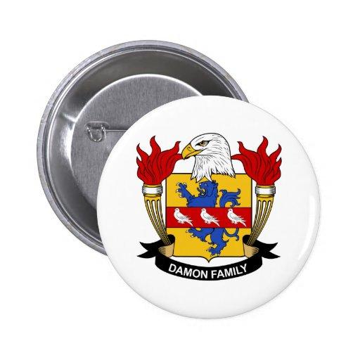 Escudo de la familia de Damon Pin Redondo 5 Cm