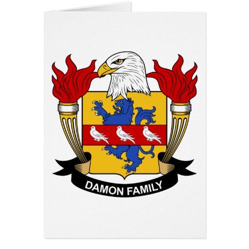 Escudo de la familia de Damon Tarjeta De Felicitación