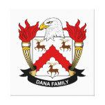 Escudo de la familia de Dana Lienzo Envuelto Para Galerías