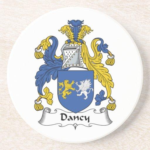Escudo de la familia de Dancy Posavasos Personalizados