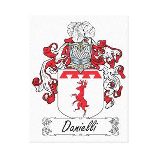Escudo de la familia de Danielli Impresion En Lona