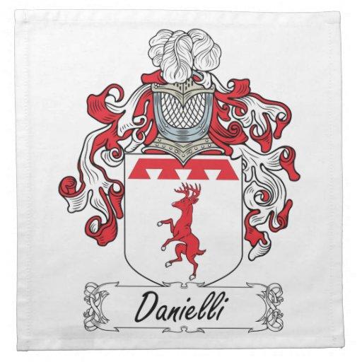 Escudo de la familia de Danielli Servilleta