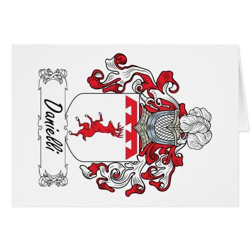 Escudo de la familia de Danielli Tarjetas