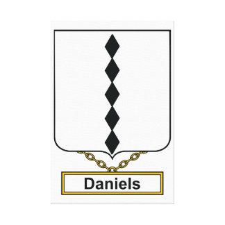 Escudo de la familia de Daniels Impresion De Lienzo
