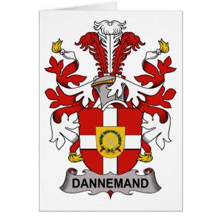 Escudo de la familia de Dannemand Tarjeta De Felicitación