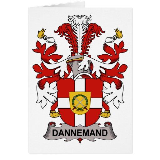 Escudo de la familia de Dannemand Tarjetón