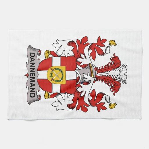 Escudo de la familia de Dannemand Toalla De Cocina