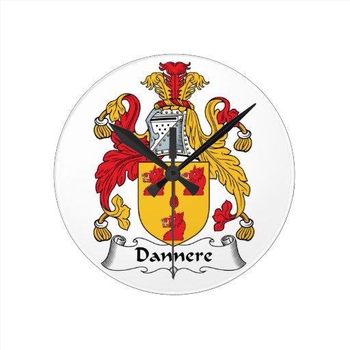Escudo de la familia de Dannere Reloj Redondo Mediano