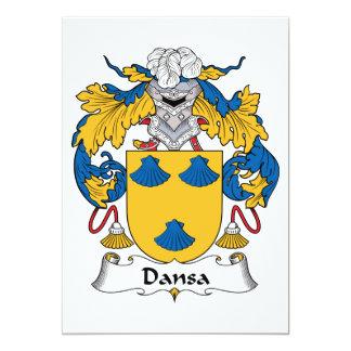 Escudo de la familia de Dansa Invitación Personalizada