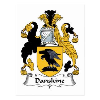 Escudo de la familia de Danskine Tarjetas Postales