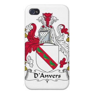 Escudo de la familia de D'Anvers iPhone 4 Funda