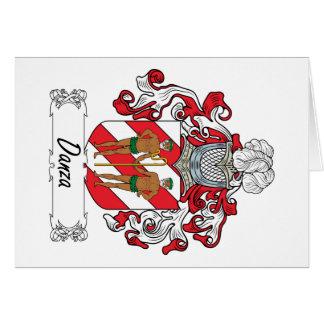 Escudo de la familia de Danza Tarjeta De Felicitación