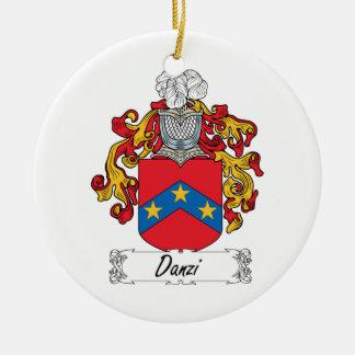 Escudo de la familia de Danzi Ornamento De Navidad