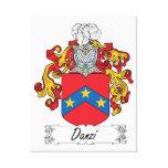 Escudo de la familia de Danzi Lona Envuelta Para Galerías