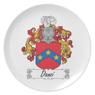 Escudo de la familia de Danzi Platos