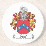 Escudo de la familia de Danzi Posavasos Para Bebidas