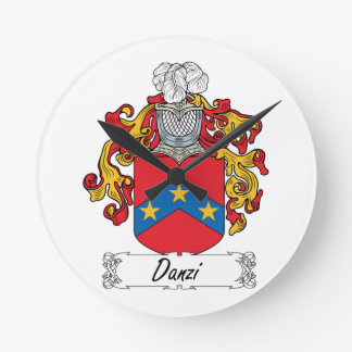Escudo de la familia de Danzi Relojes De Pared