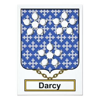 """Escudo de la familia de Darcy Invitación 4.5"""" X 6.25"""""""