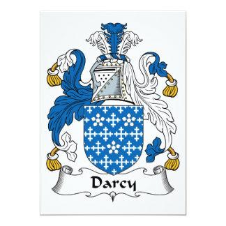 """Escudo de la familia de Darcy Invitación 5"""" X 7"""""""
