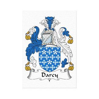 Escudo de la familia de Darcy Impresión En Lona Estirada