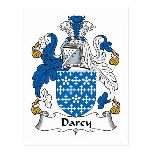Escudo de la familia de Darcy Postal