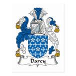 Escudo de la familia de Darcy Postales