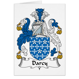 Escudo de la familia de Darcy Tarjeta De Felicitación