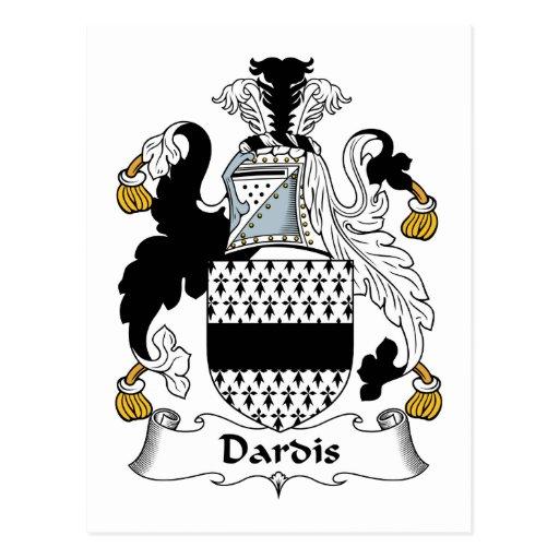 Escudo de la familia de Dardis Postales