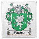 Escudo de la familia de Dargan Servilletas