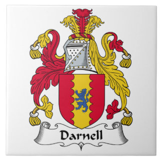 Escudo de la familia de Darnell Teja Ceramica