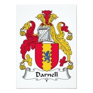 Escudo de la familia de Darnell Invitación