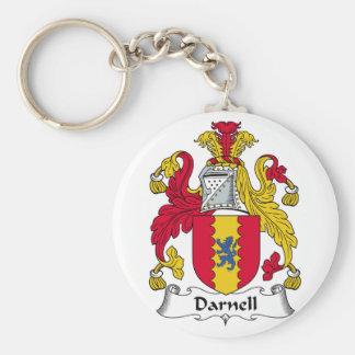 Escudo de la familia de Darnell Llavero Redondo Tipo Pin