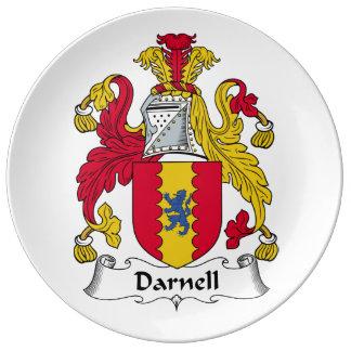 Escudo de la familia de Darnell Platos De Cerámica