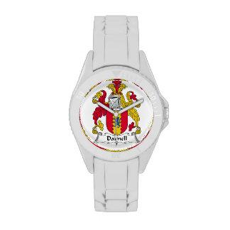 Escudo de la familia de Darnell Relojes