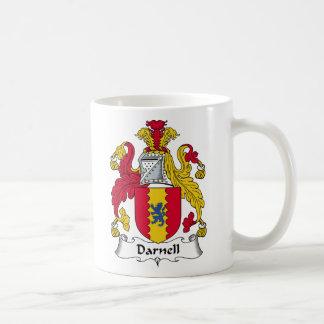 Escudo de la familia de Darnell Taza De Café