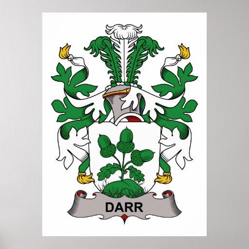 Escudo de la familia de Darr Póster