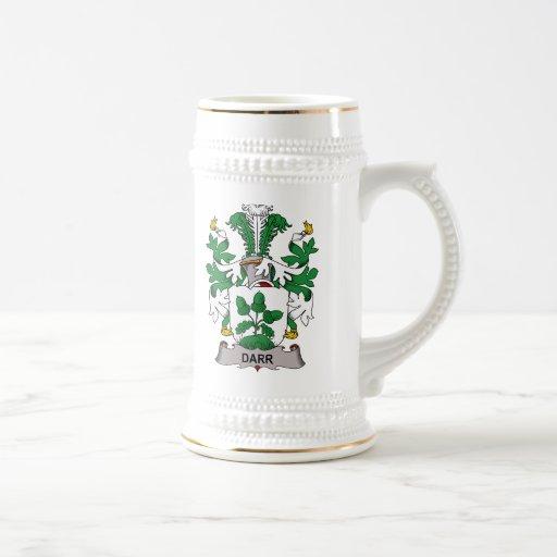 Escudo de la familia de Darr Tazas De Café