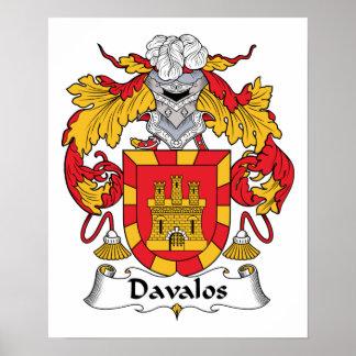 Escudo de la familia de Davalos Impresiones