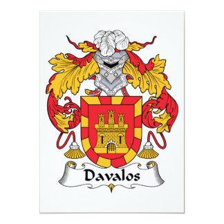 Escudo de la familia de Davalos Invitacion Personal