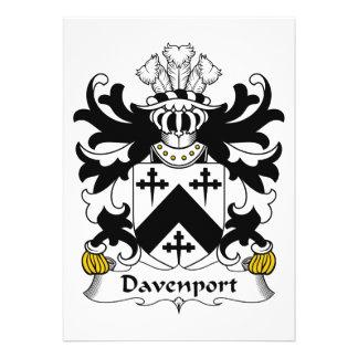 Escudo de la familia de Davenport Invitacion Personal