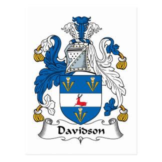 Escudo de la familia de Davidson Tarjetas Postales